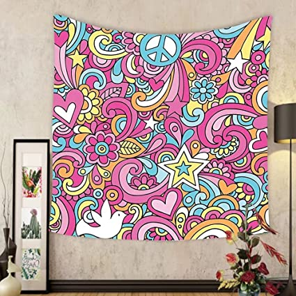 Amazon.com: Gzhihine Custom tapestry Groovy Decorations Tapestry ...