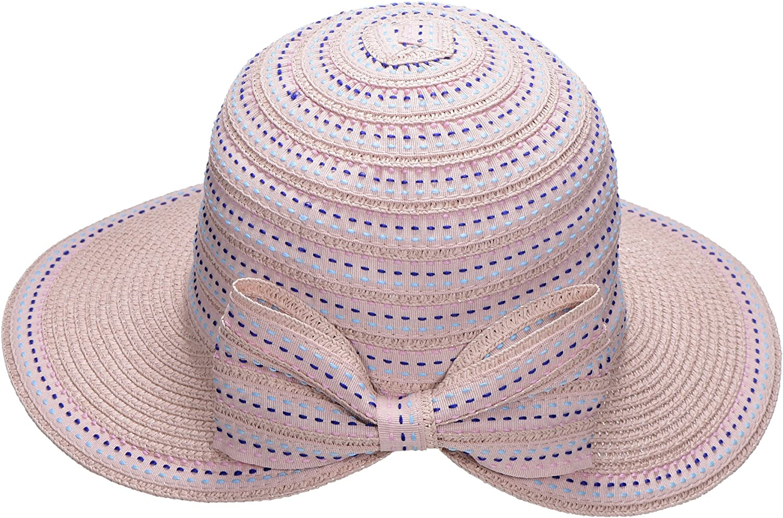 Miuno/® Damen Sonnenhut Elegant Partyhut Faltbare Kappen Sonnen Schutzen H51304-5 Rot