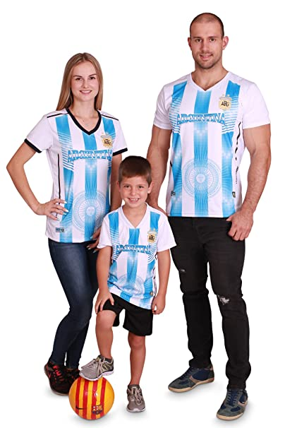 7f6b0456246 Kid s Argentina World Cup 2018 Soccer Jersey with Shorts