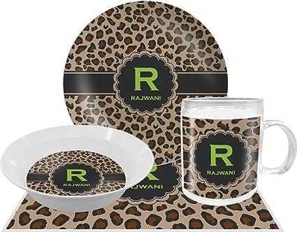 Granite Leopard Dinner Set - 4 Pc (Personalized)  sc 1 st  Amazon.com & Amazon.com: Granite Leopard Dinner Set - 4 Pc (Personalized ...
