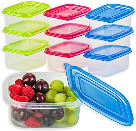 Microondas Caja de seguridad-libre De Bpa Porción de 7 Piezas Contenedores De Alimentos concrol//Kit De Contenedor