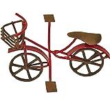G & F MiniGardenn 10022 Fairy Garden Miniature Mini Bicycle, Red
