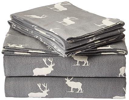 Eddie Bauer Flannel Sheet Set, Queen, Elk Grove best queen-sized flannel sheet sets