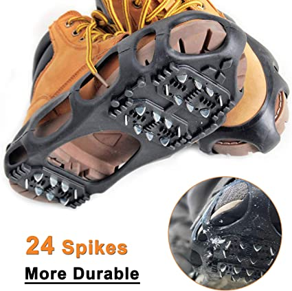 1 PAIR OF SHOE SNOW STUD AND ICE GRIPS CRAMPONS OVERSHOE SNOW GRIPPERS SPIKES B