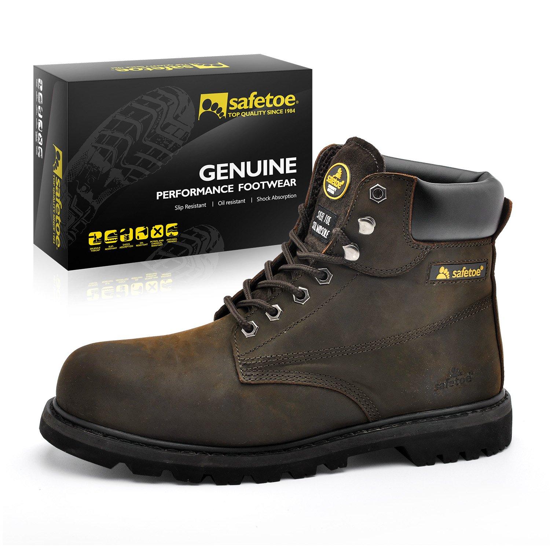 Botas de Seguridad Industriales para Hombres - SAFETOE 8179 Zapatos de Trabajo Elegantes con Punta de Acero