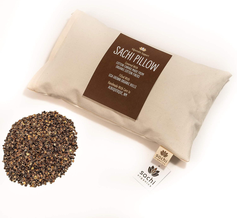 Buckwheat Hull Pillow Travel Pillow Pillow /& Pillow Case #5 Buckwheat Hulls