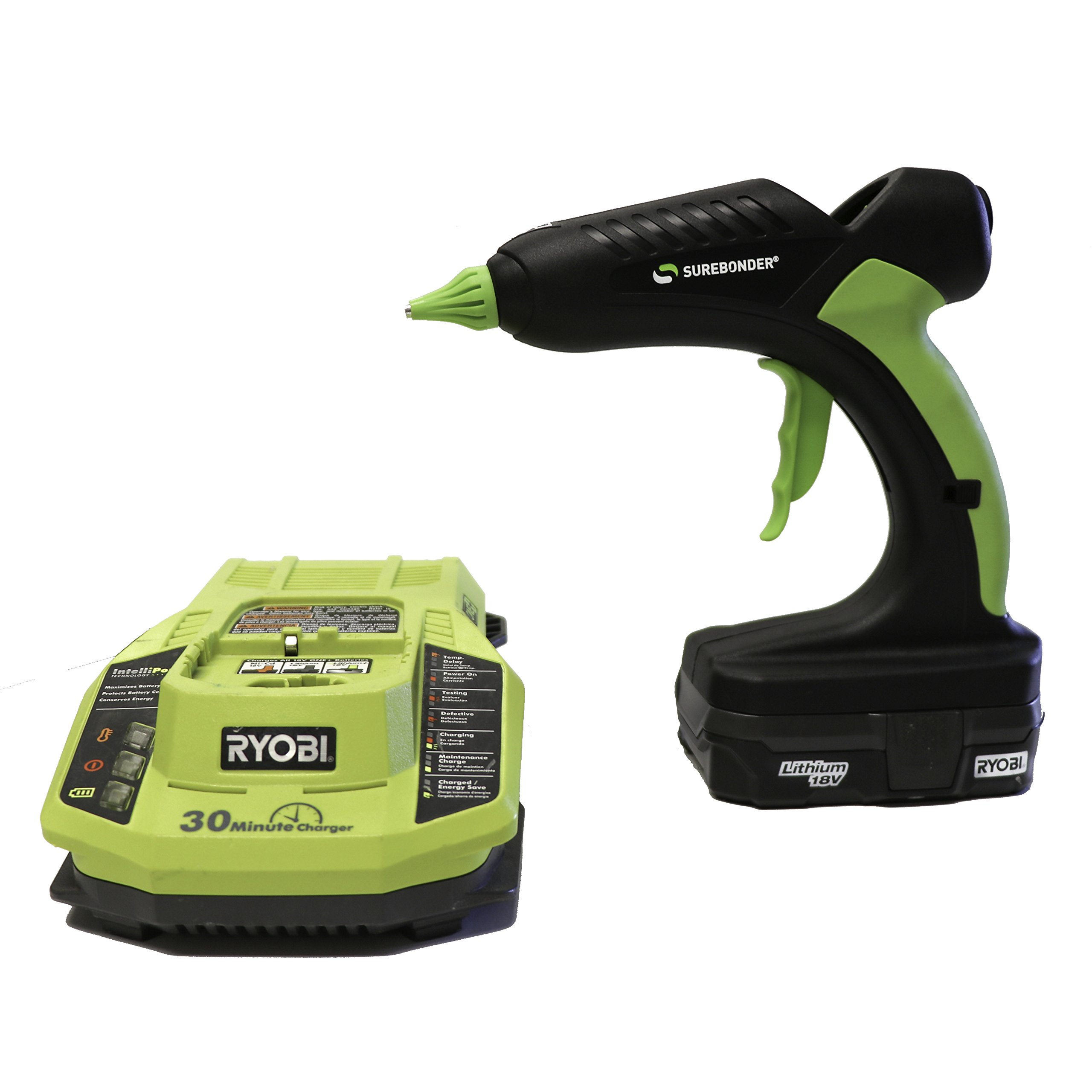 PRO2-60KIT 60 Watt Cordless Professional Heavy Duty Hot Glue Gun Kit-Full Size-Ryobi Battery & Charger Included
