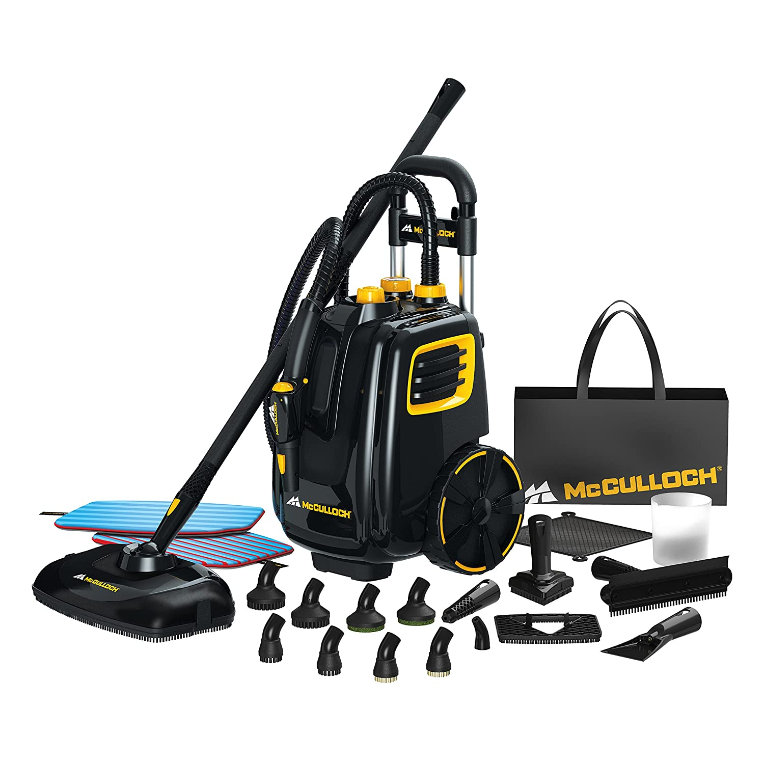 Kitchen Floor Steam Cleaner Amazoncom Mcculloch Mc1385 Deluxe Canister Steam System Home
