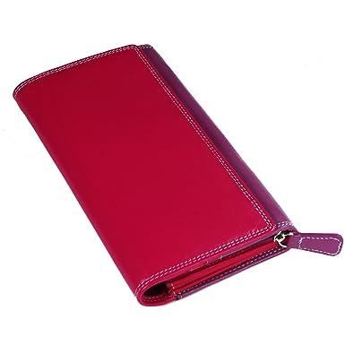 57d04545cd0e Women's Genuine Leather Compact Multi Compartment Wallet Purse ...