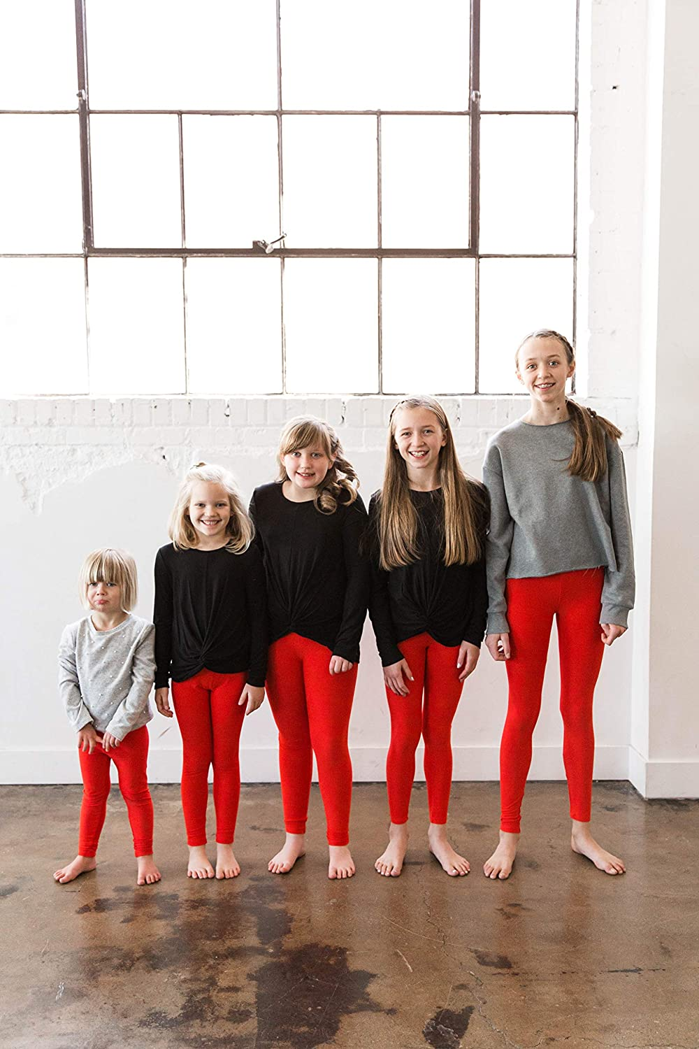 POPINJAY Premium Soft Girls Leggings Best High Waist Ankle Length 4-Way Stretchy Leggings for Toddlers and Big Kids