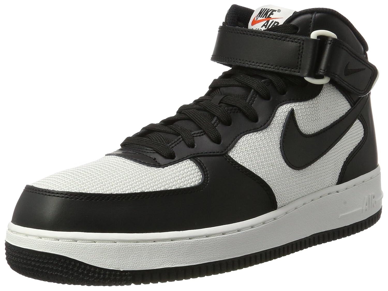 Nike Herren Air Force 1 Mid 07 Basketballschuhe  41 EU Schwarz (Black/Black/Summit White)