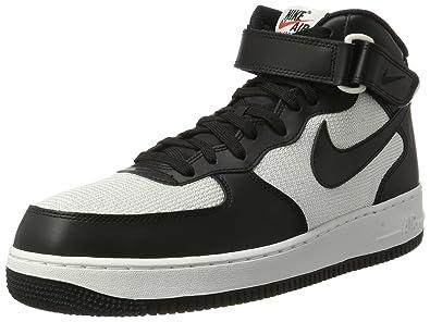 competitive price fa487 dd9a0 Nike Herren Air Force 1 Mid 07 Turnschuhe, Schwarz Black Summit White, 36