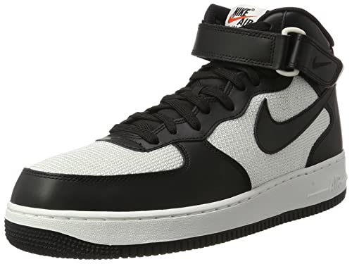 brand new 719f6 bf8fc Nike Men s AIR Force 1 MID 07 Black-Summit White Basketball Shoes-7 UK