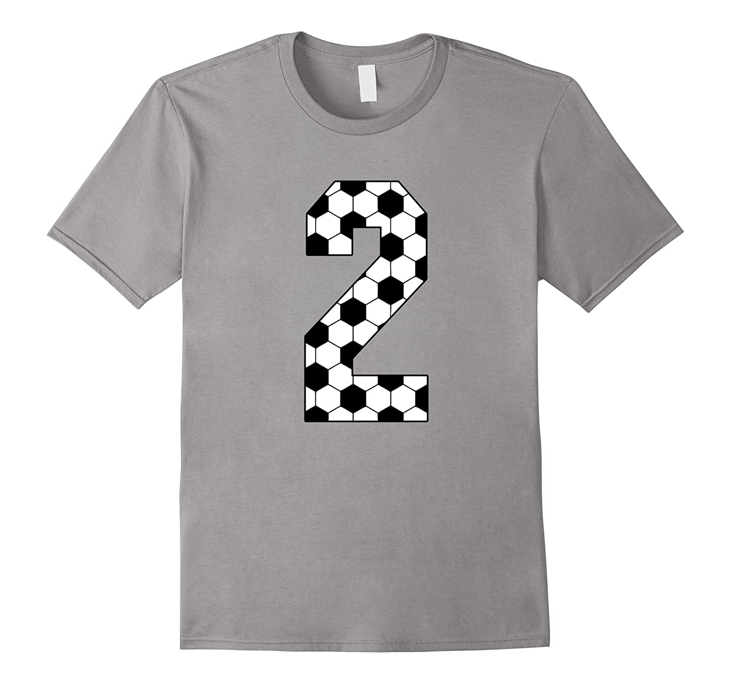 Number 2 Soccer 2nd Birthday Two Year Old T Shirt TD