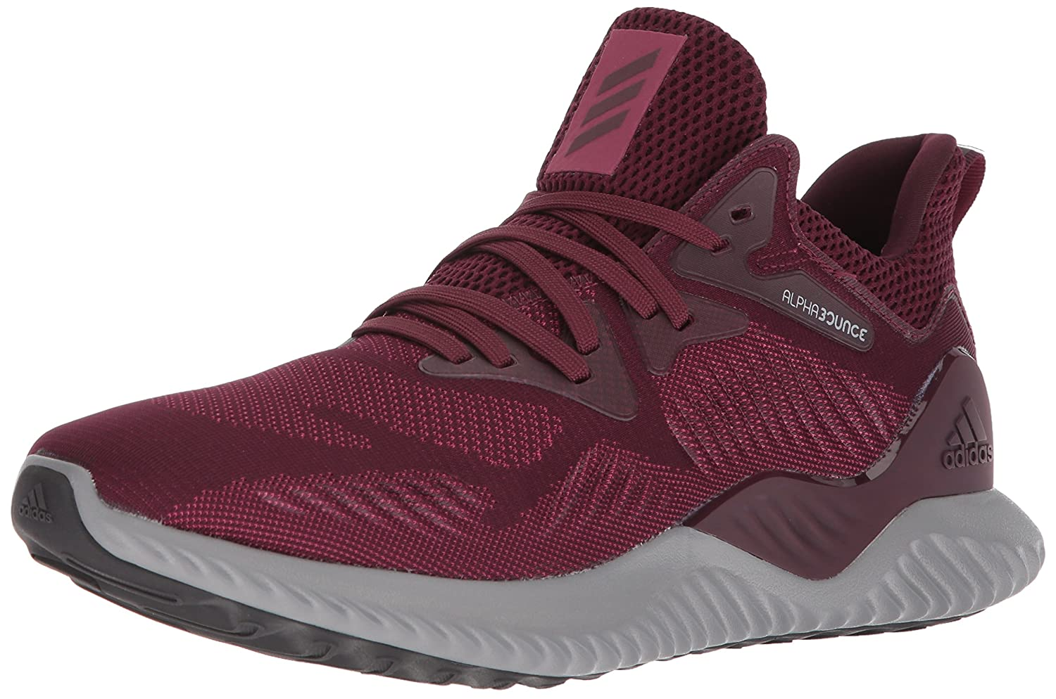 adidas Alphabounce 2 M Running Shoe B072LN1KW5 14 M US|Maroon/Maroon/Mystery Ruby