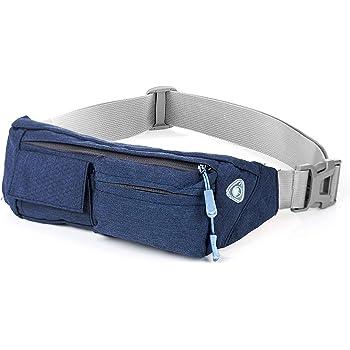 Cangurera Premium color Azul perfecta para viajar  Cinturón deportivo con 4  bolsas perfecto para hacer 173cd29c922d