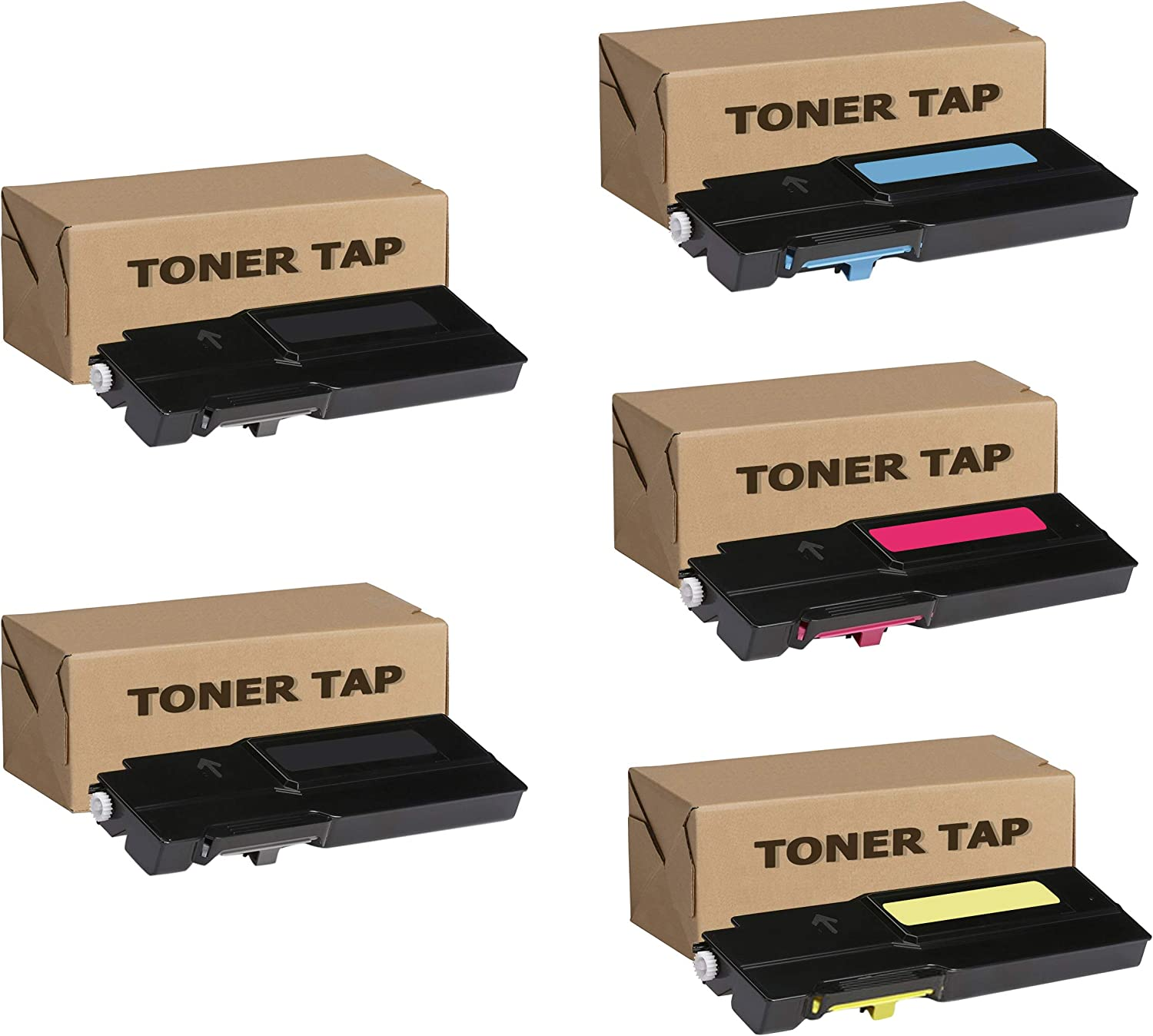 Extra High Yield Toner Tap Compatible for Xerox VersaLink C400 C405 C400D C400DN C405DN C405N MFP (106R03524 106R03526 106R03527 106R03525, 5-Pack)