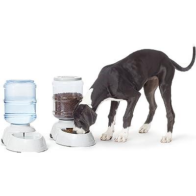 AmazonBasics - Dispensador de agua y comida, Grande