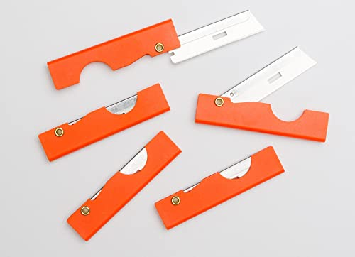Derma-safe Folding Utility Survival Knife 5-pack Orange
