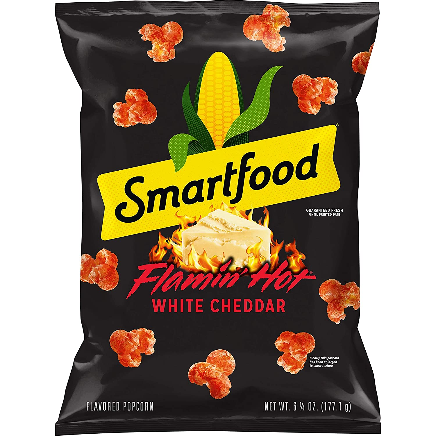 Smartfood Popcrom,Flamin' Hot White Cheddar, 6.25 Ounce