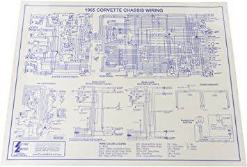 amazon.com: 1965 corvette wiring diagram 17x22: automotive  amazon.com