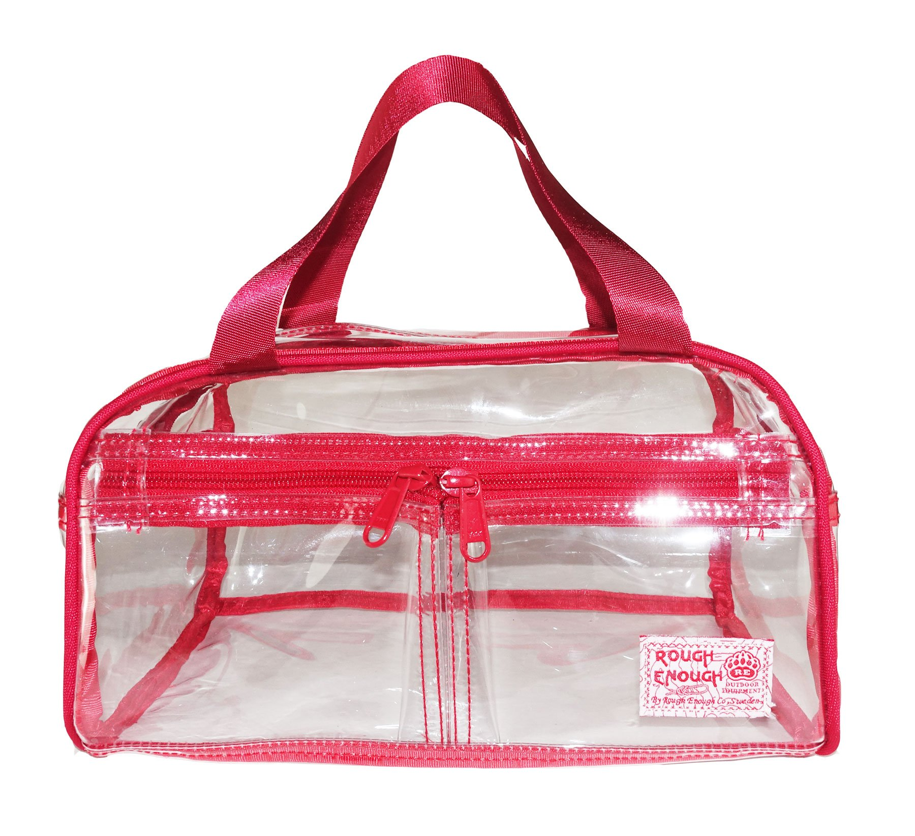 Rough Enough Clear Transparent Fashion Comestic Handbag Toiletry Bag Large Capacity Toiletry Travel Cosmetic Makeup Bag Kit Box Set Clear Bag With Zipper For Outdoor Trip Organize Accessories