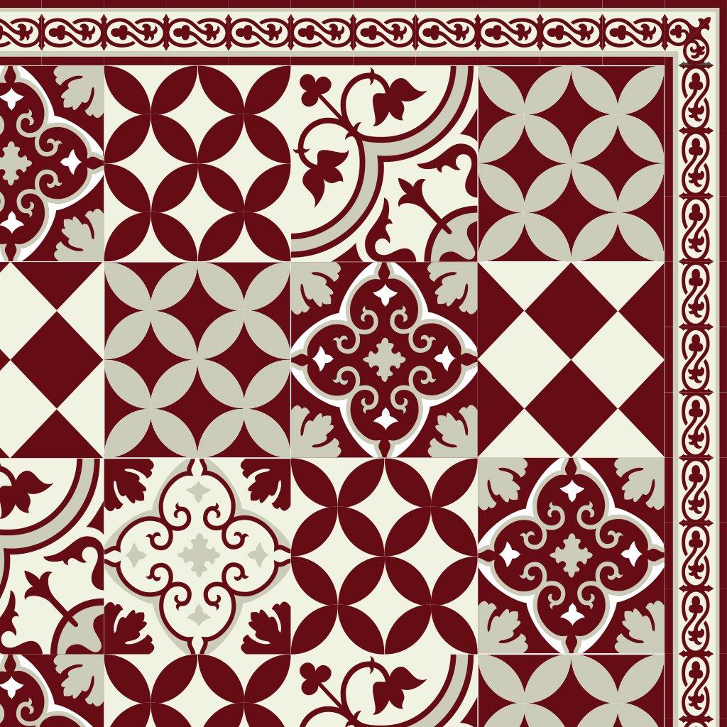 PVC vinyl mat Carpet Tiles Pattern Decorative linoleum rug ,FREE Shipping, gift for holidays, Bordeaux 311