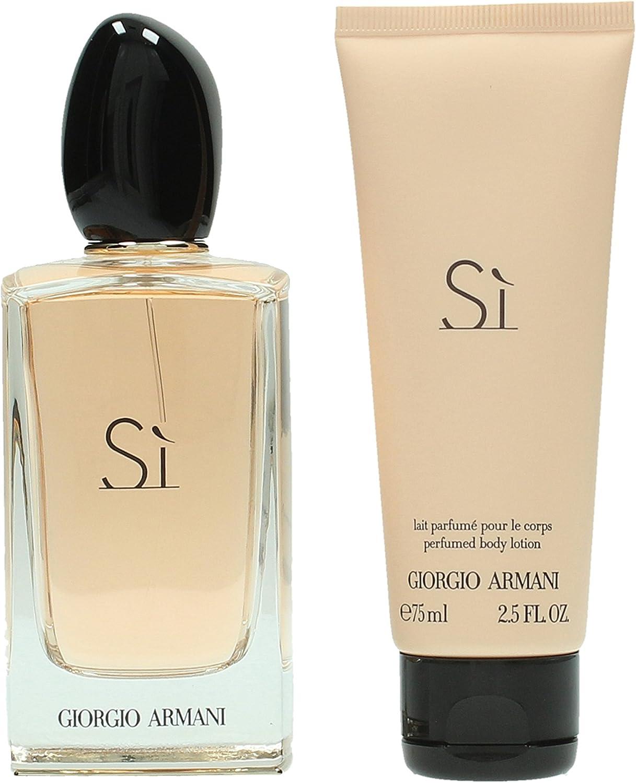 Giorgio Armani - Armani Si - Set de regalo para mujer - Eau de parfum 100 ml + Loción corporal 75 ml: Amazon.es: Belleza
