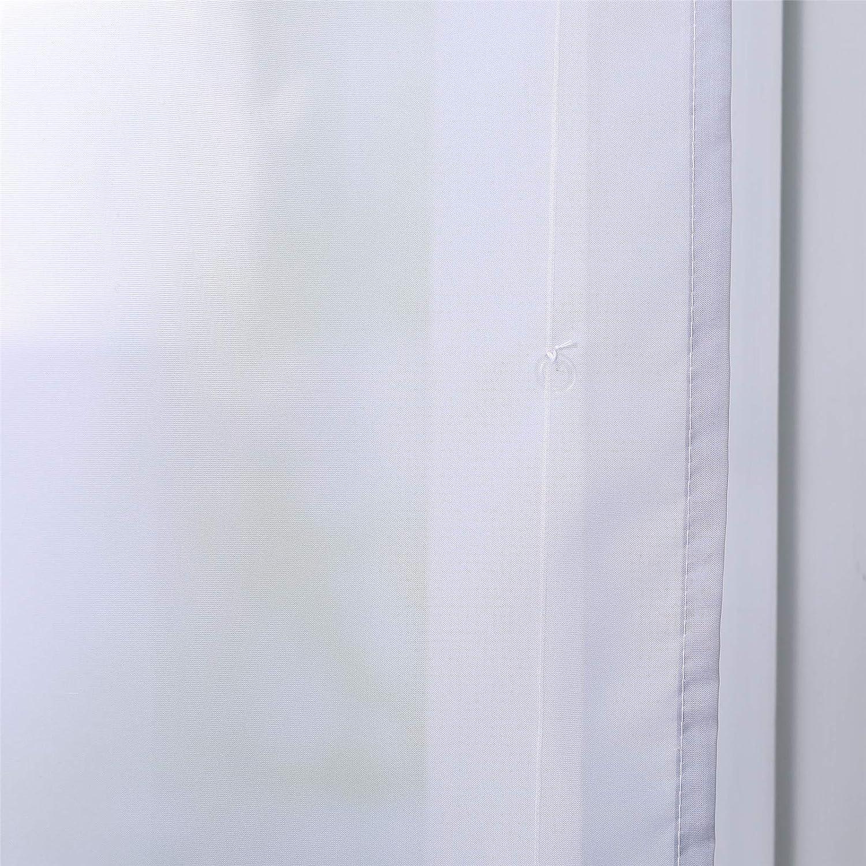 ESLIR Raffrollo Voile Raffgardine Tunnelzug Farbverlauf Gardinen K/üche Transparent B/ändchenrollo Vorh/änge Modern Orange BxH 60x140cm 1 St/ück