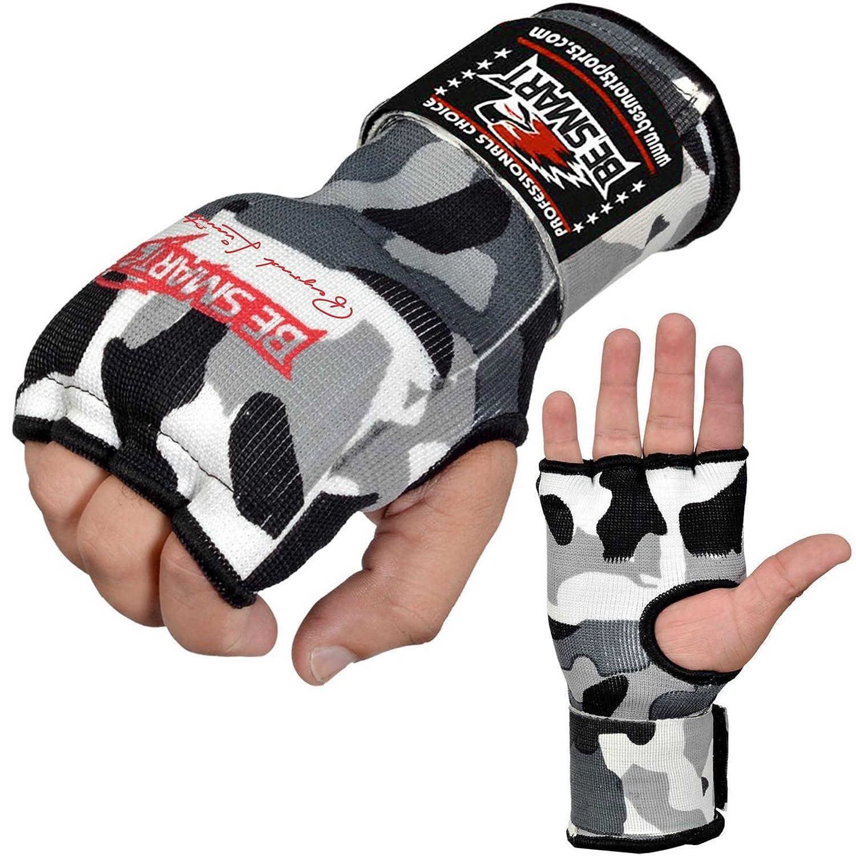 Be Smart Pro Gel-Handbandagen f/ür Handschuhe gepolsterte Bandagen Boxen grau MMA unisex damen Kinder Herren