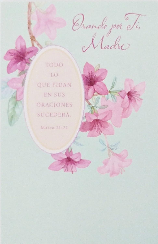 Amazon.com : Orando por Ti, Madre - Happy Mother\'s Day / Feliz Dia ...