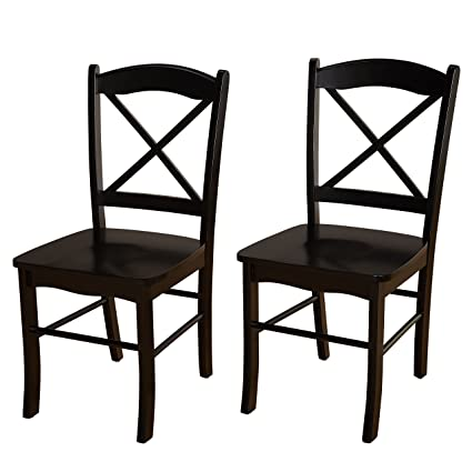 Target Marketing Systems Set Of 2 Tiffany Dining Chairs Cross Back, Set Of  2,