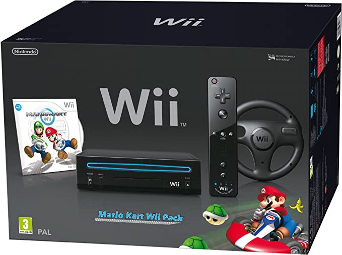 Nintendo Wii + Mario Kart Pack - juegos de PC (Wii, 512 MB, IBM PowerPC, SD, 802.11b, 802.11g, Negro): Amazon.es: Videojuegos