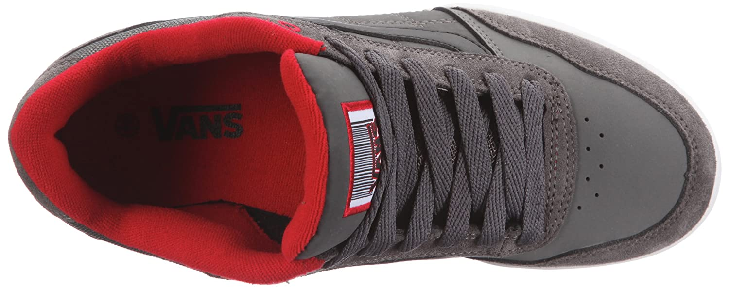 82b97e6152 Vans Wylie pewter black red Trainers Mens Gray Grau (pewter black red)  Size  38.5  Amazon.co.uk  Shoes   Bags