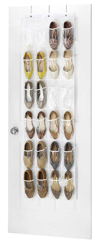 Amazon.com: Whitmor OTD Shoe Bag 24 Pocket White Crystal: Home U0026 Kitchen