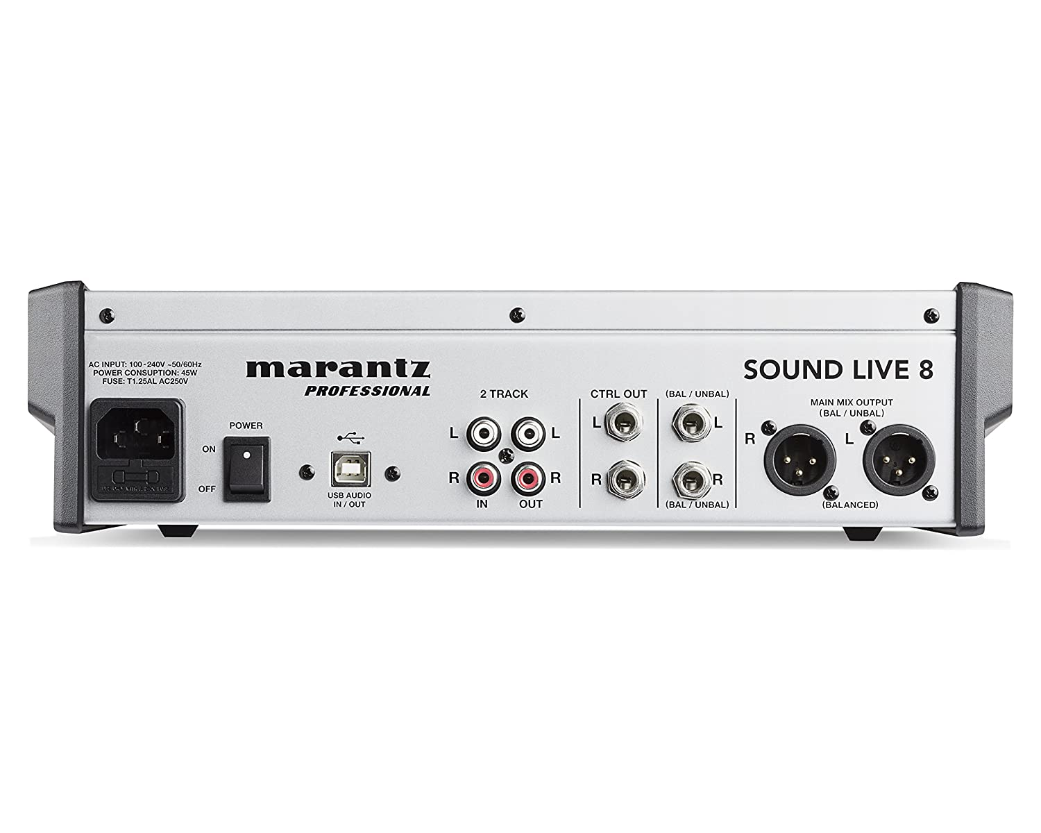 Marantz Professional Sound Live 8 Channel 2 Bus Standard Xlr Wiring Diagram Yamaha Tabletop Mixer With 5 Inputs Mic Preamps Musical Instruments