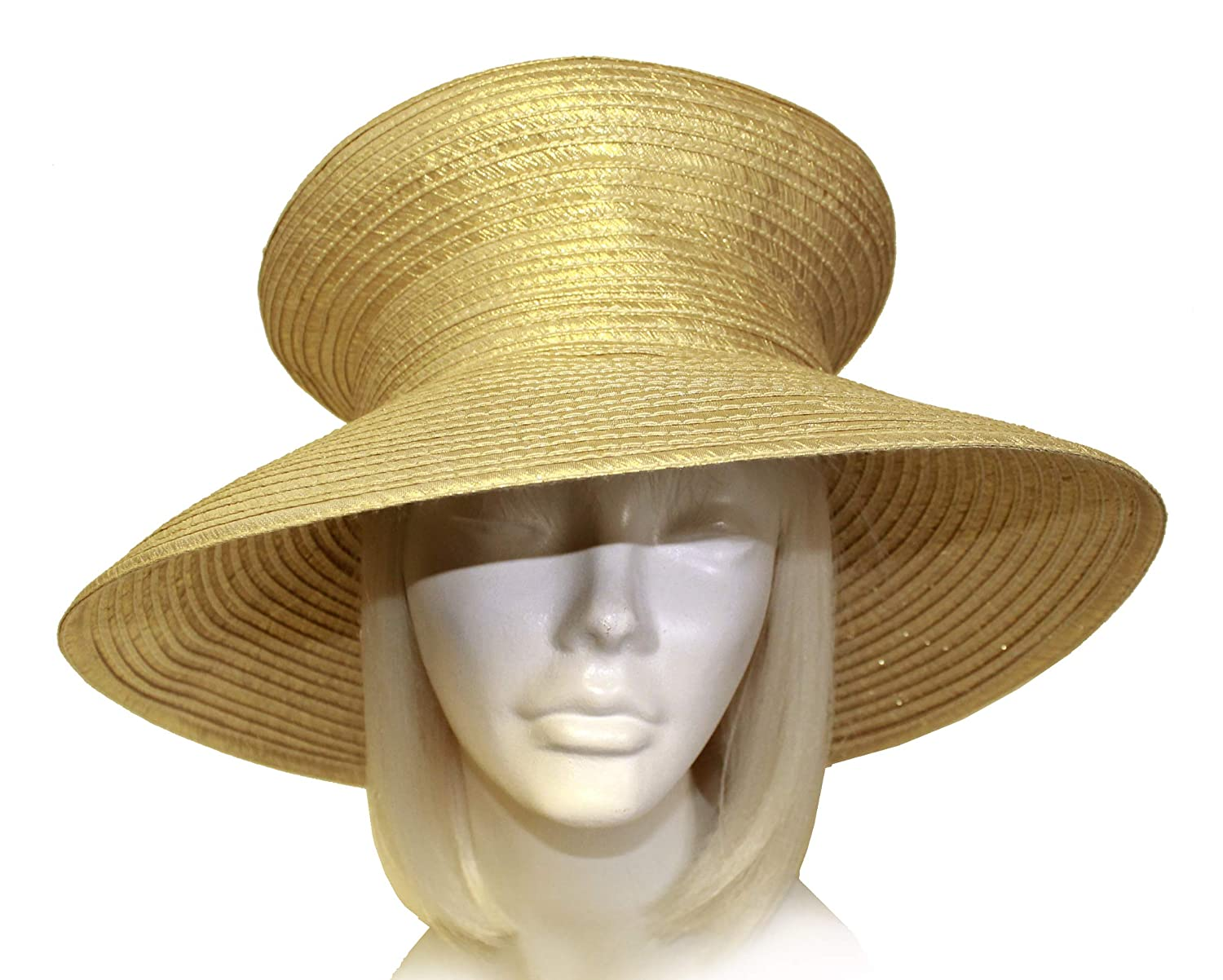 Song Millinery Satin-CRIN Stovetop Crown Wide Brim Hat Body Mr UNTRIMMED HAT ONLY 301