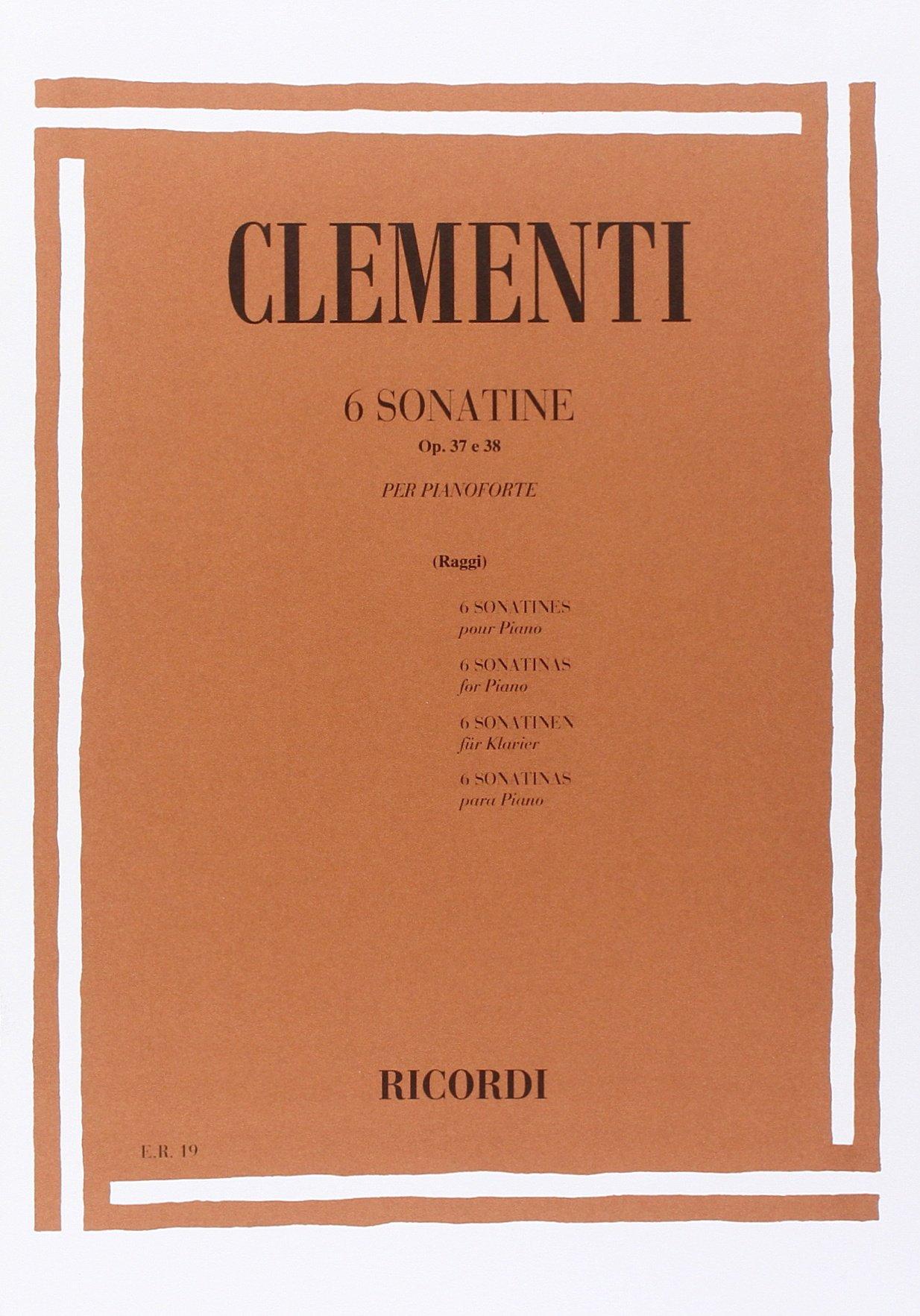 6 SONATINE OP. 37 E 38 (Francese) Copertina flessibile – 1 gen 1984 CLEMENTI M. Ricordi 0041800192 Musique