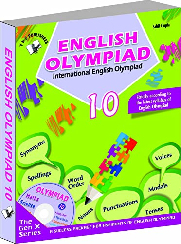 International English Olympiad - Class 10  with CD: Essential Principles with Examples; Mcqs and Solutions; Model Test Papers