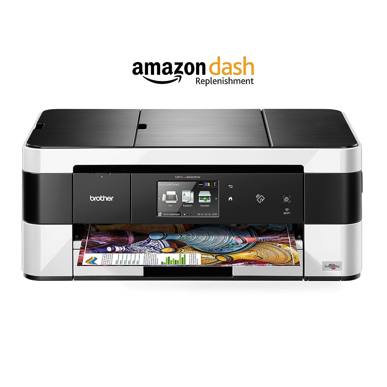 Brother MFC-J4620DW - Impresora de tinta 4-in1 (USB, WiFi, 6000x1200 dpi, USB), blanco y negro (Versión en Alemán)