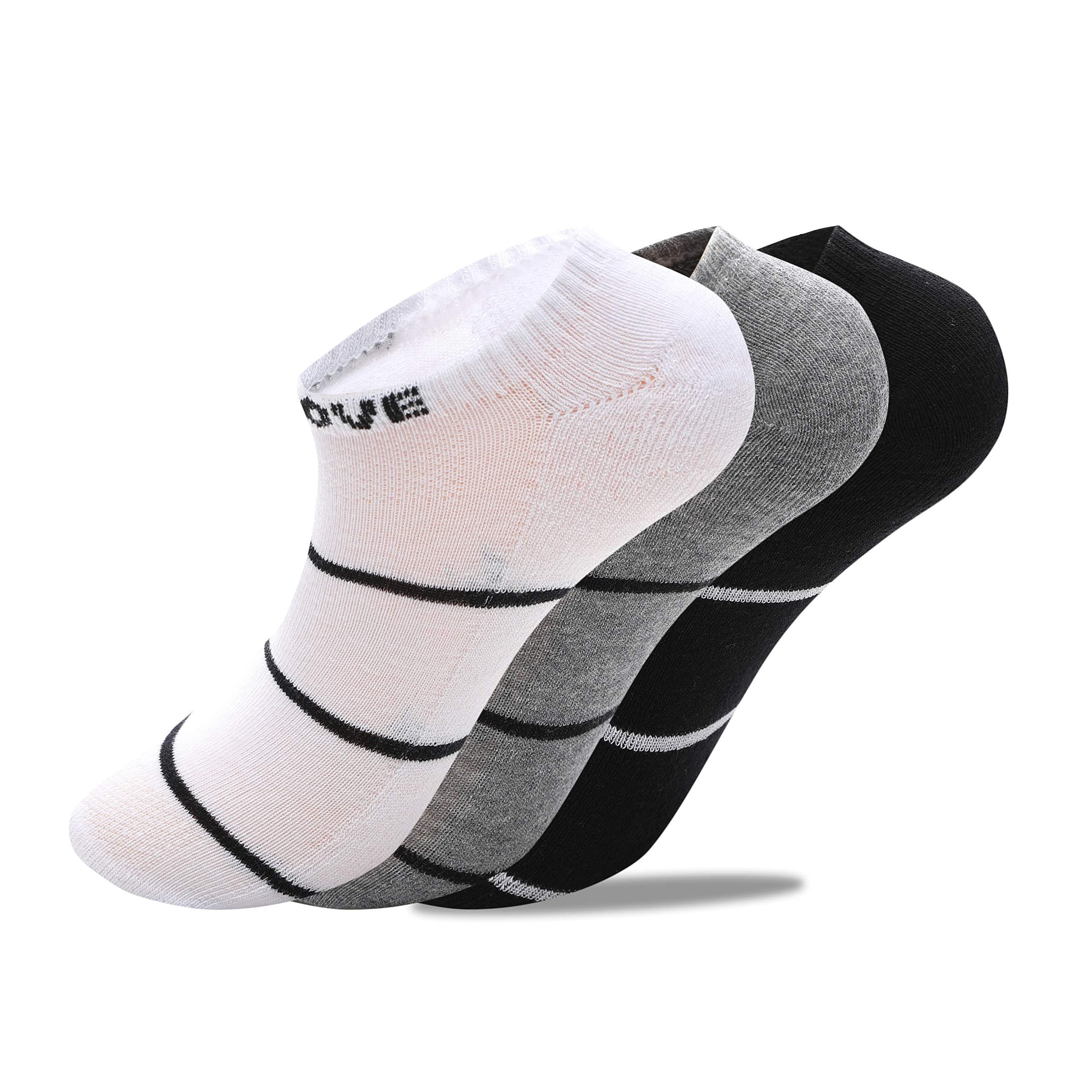 RuRu Monkey Low Cut Athletic Socks for Women & Men (3 Pair)