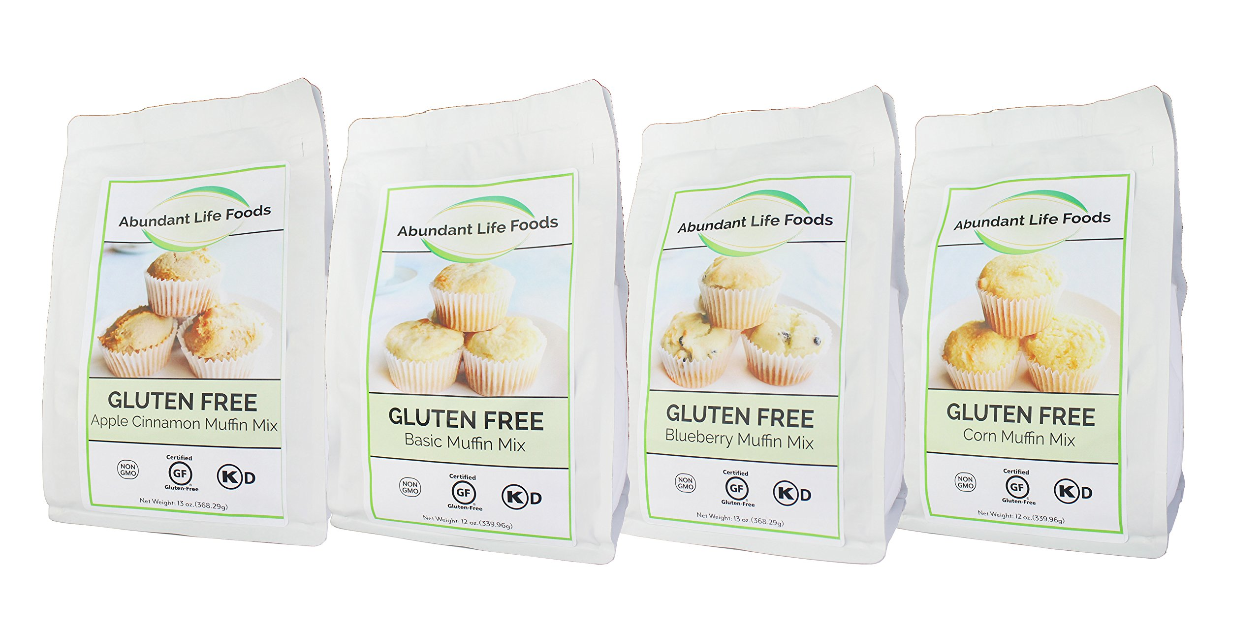 Abundant Life foods Gluten Free Assorted Muffin Mix (Case of 4/ 12 oz. Bags)