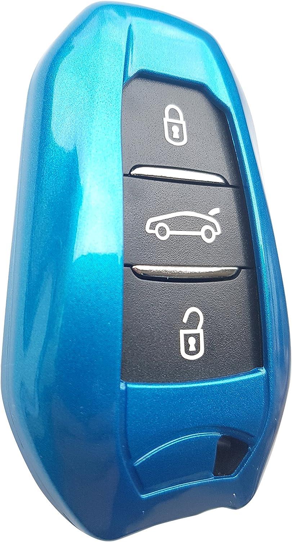 Cactus C2 C4 C3 bleu CK+ Coque de cl/é de voiture en ABS pour Citro/ën sans cl/é C1 Grand Picasso