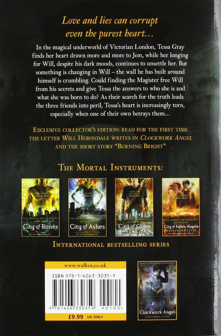 Amazon: Clockwork Prince (the Infernal Devices) (9781406330359):  Cassandra Clare: Books