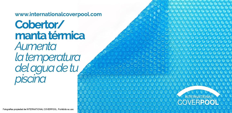Cubiertas térmicas 5x9 metros con Refuerzo en los dos lados estrechos 600 micras espesor Piscinas International Cover Pool