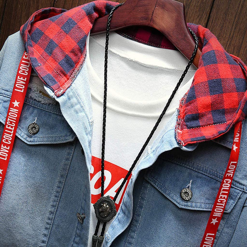 Denim Jacket Casual Vintage Distressed Ripped Holes Fashion Slim Fit Tops Allywit Mens 2018 Lastest