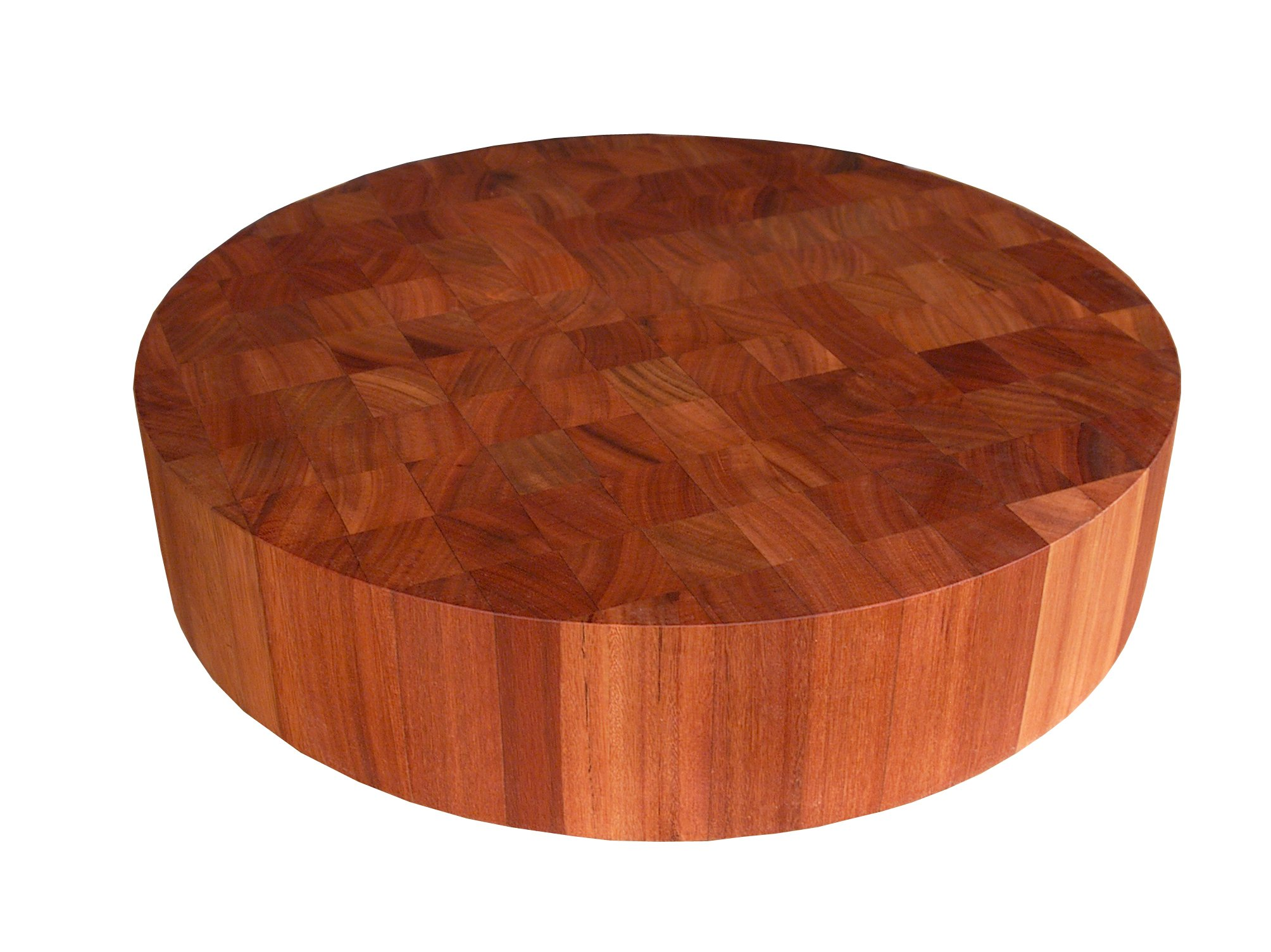 John Boos Cherry Wood End Grain Round Butcher Block Cutting Board, 18 Inches Round x 3 Inches