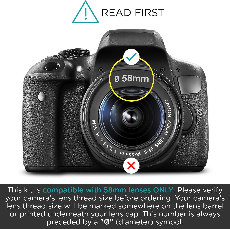 Bilora Filterset 4in1 UV-filtro pol circ filtro gris nd4 efecto estrella 4x 58mm