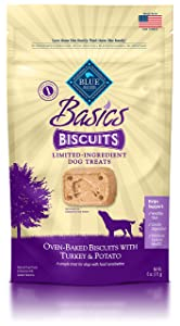 Blue Buffalo Basics Limited Ingredient Diet Biscuits Crunchy Dog Treats