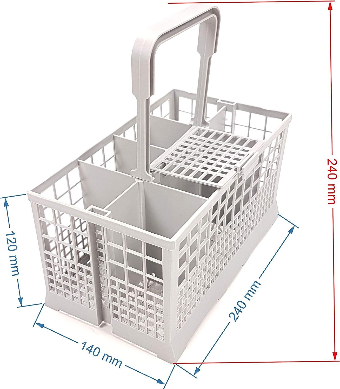 Besteckkorb Universal passend f/ür viele Sp/ülmaschinen Ma/ße 240 x 140mm Kunststoff grau